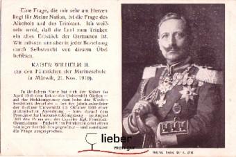Postkarte mit Kaiser Wilhelm II - prominenter Unterstützer des DVMGG