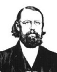 Portrait von August Peters Mitte des 19. Jahrhunderts