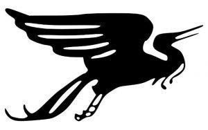 Symbol des Wandervogels: Der Greif in einer symbolischen Schwarz Weiß Darastellung