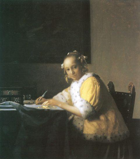 frau writing an der lahnda