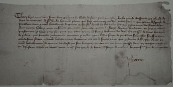 Mittelalterlicher Brief von Jeanne d Arc an die Engländer Riomois