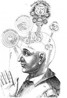 Erinnerung - Ein komplexer Mechanismus. Technische Zeichnung von Robert Fudd