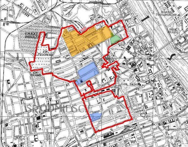 Karte des Warschauer Ghettos
