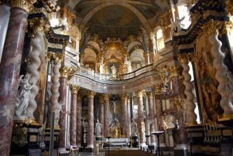 Die Würzburger Hofkirche von innen | Foto: Hofkirche Wuerzburg, Lizenz: CC BY-SA 3.0
