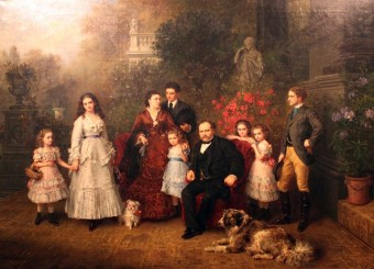 Familienportrait des Unternehmers Bethel H. Strousberg
