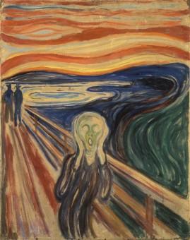 """Das Gemälde """"Der Schrei"""" von Edvard Munch aus dem Jahre 1910"""