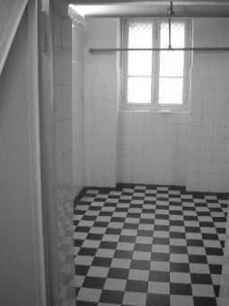 Abbildung der Gaskammer im KZ Bernburg für psychisch Kranke
