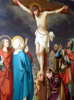Gemälde das die Kreuzigung Jesus Christus zeigt