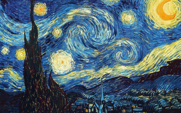 """""""Sternennacht"""" oder niederländisch """"De sterrennacht"""" - Van Gogh."""