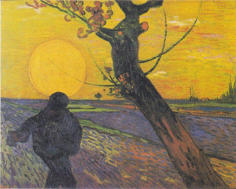 Gemäöde von Van Gogh - Titel: Sämann bei untergehender Sonne -