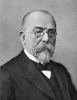 Schwarz-weißes Portraitbild von Robert Koch